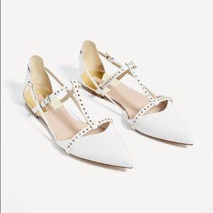 Zara Basic Collection Studded Flat